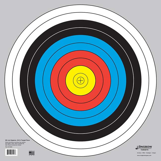 Olympic Style Paper Archery Targets